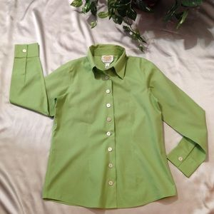 Talbots Lime Green Blouse